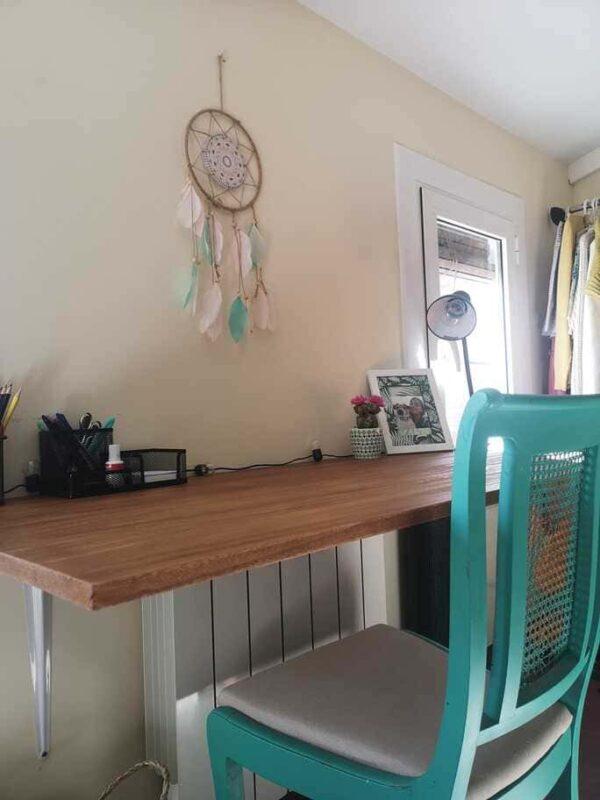 mesa de madera de Paulownia