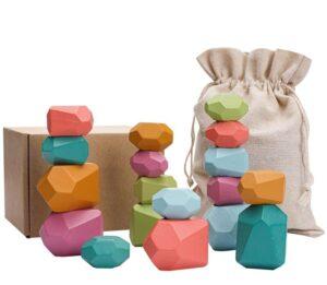 Piedras juguetes montessori 10