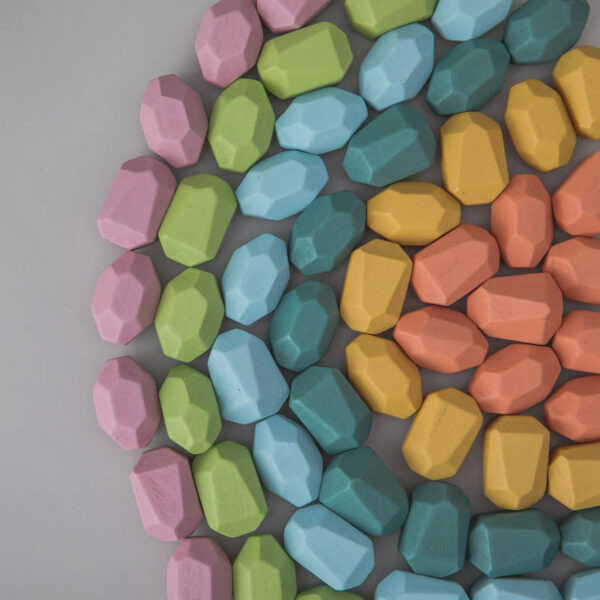 Piedras juguetes montessori
