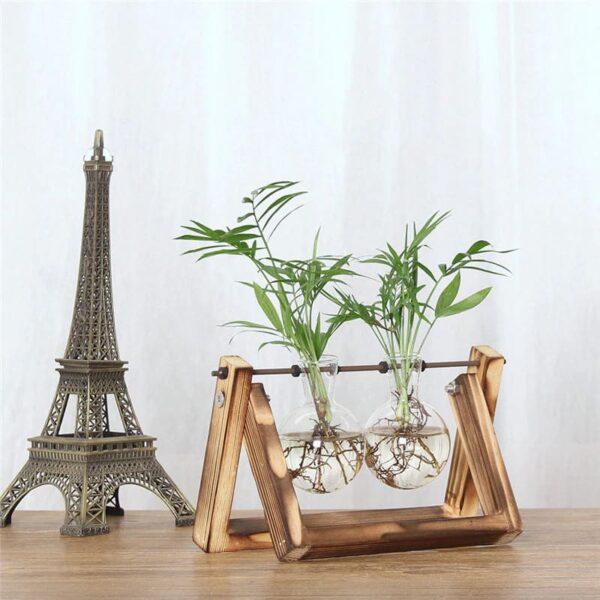 florero madera y vidrio 5