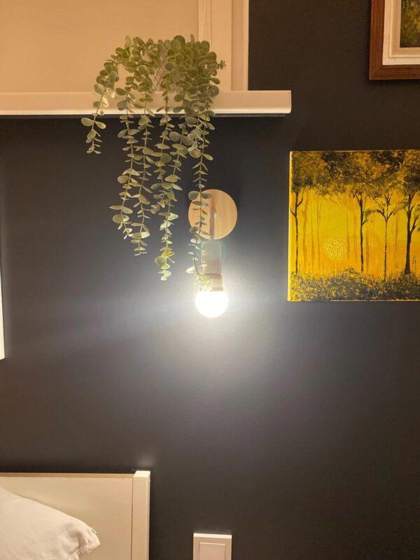 lampara blanca madera