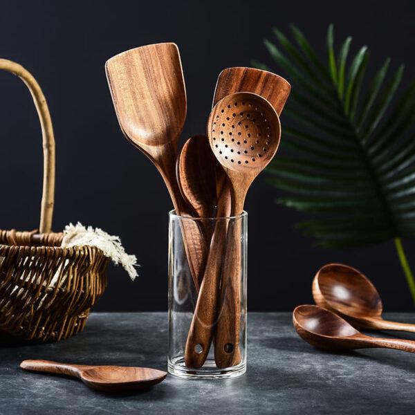 utensilios cocina madera